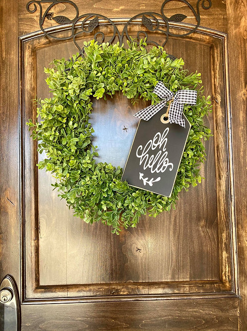 Extra Small oh Hello Wreath Snuggler and Wreath