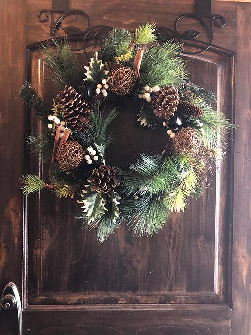 Pinecones and Cinnamon Stick Wreath