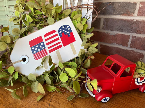 Ex Small 4th of July Popsicle Shelf SItter