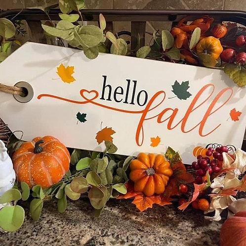 Large Hello Fall Shelf Sitter