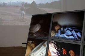 Exhibition View: COLLIDING HUMANS, mkv / peer to space, 2019 © Manja Ebert