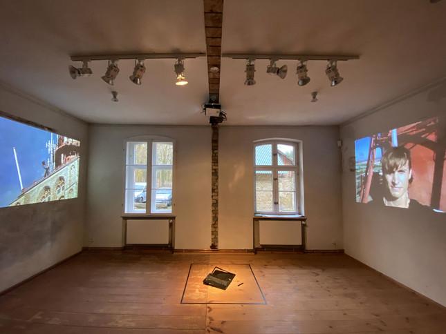 Dani Ploeger, Death Plunge (falling selfie), 2016-19, 2-Kanal Videoinstallation