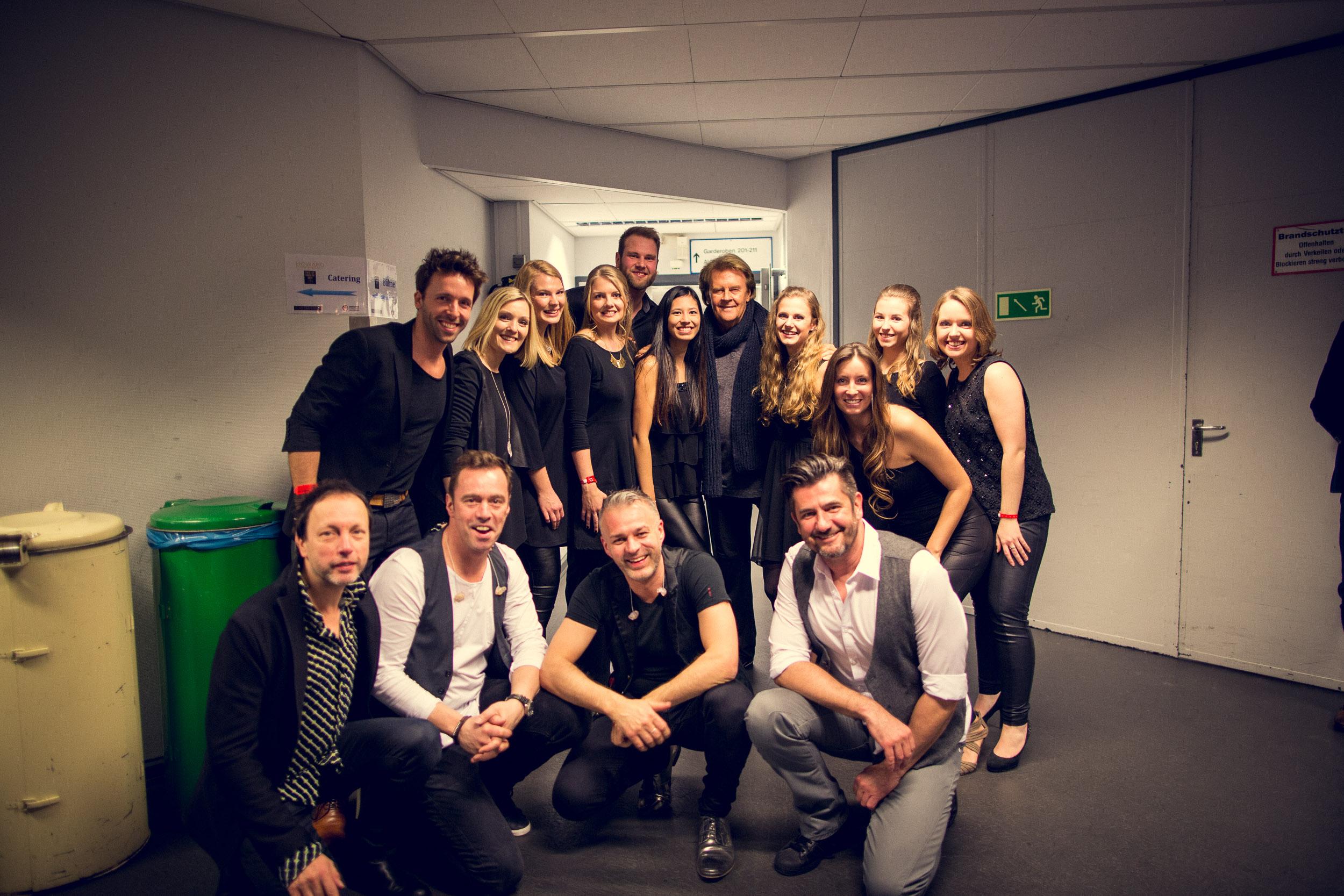 Backstage mit Howard und Band
