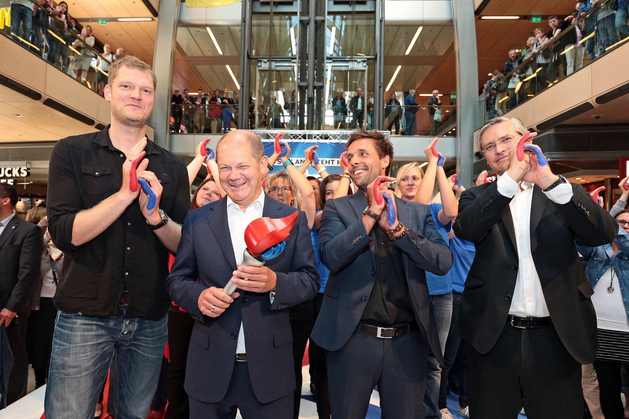 Olympia-Aktion mit Olaf Scholz