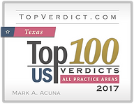 Top verdicts award for superior trial skills for an attorney