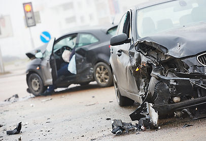 two cars in a car crash