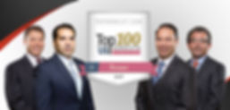 Attorney Desi Martinez and associates after winning top 100 verdicts labeling them as industry experts