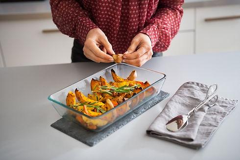 Zubereitung von gesundem Essen
