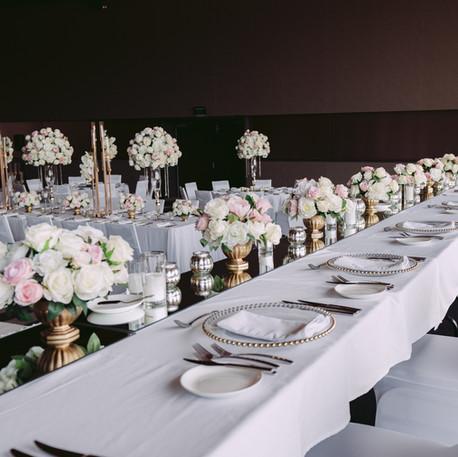 Wedding centrepieces, Rose Gold Candelabra
