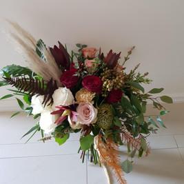 Unstructured, Rustic Bridal Bouquet