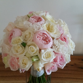 Romantic Pink Peony and Roses Bridal Bouquet