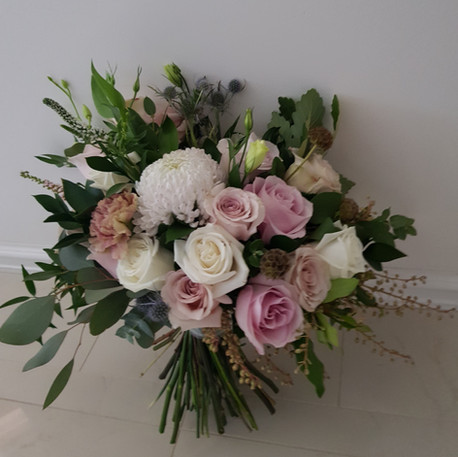 Bridal Bouquet, unstructured posy