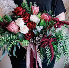 Unstructured Wedding Bouquet, Rustic Chic