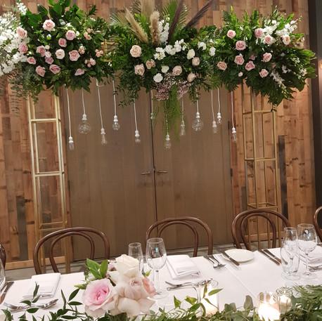 Wedding Arch, Glass Teardrop Candles