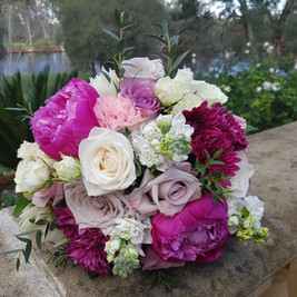 Bridal Bouquet Peony Roses