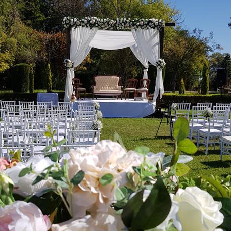 Indian Outdoor Wedding Ceremony, Wedding Gazebo / Arbour, Tiffany Chairs
