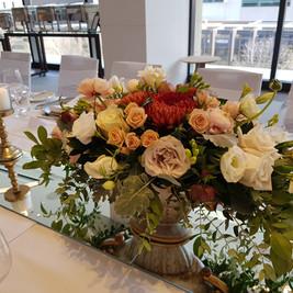 Wedding centrepiece flowers