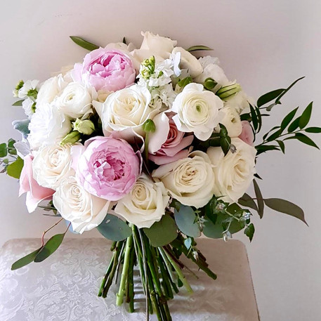 Charming Bridal Posy, Pink and White