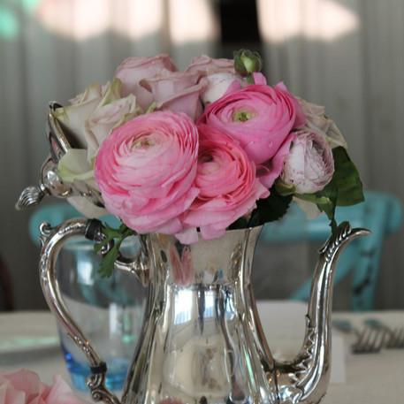 Wedding Silver Teapot Cetrepiece