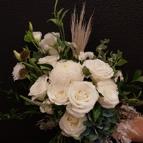 Bridal posy , beautiful  blooms and pamp