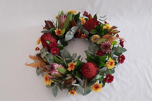 Native Flowers Medium Wreath