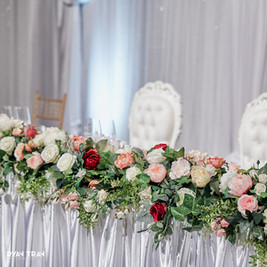 Bridal Table with Silk Flowers