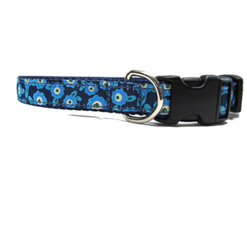 Forget Me Not 3/4in Dog Collar