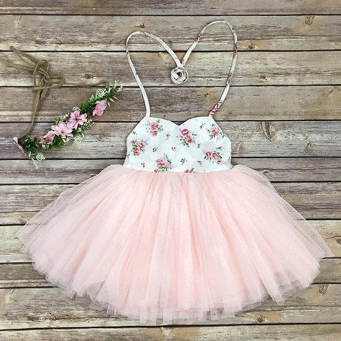 Floral vintage dress (pink or blue)