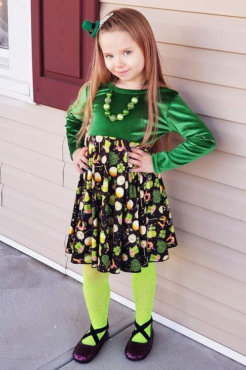 Cloverleaf velvet dress
