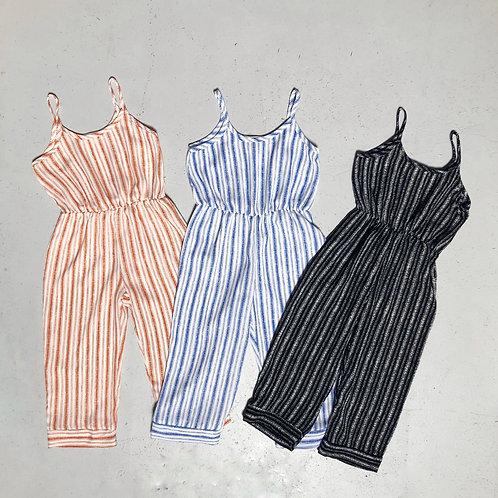 Diane striped jumpsuits