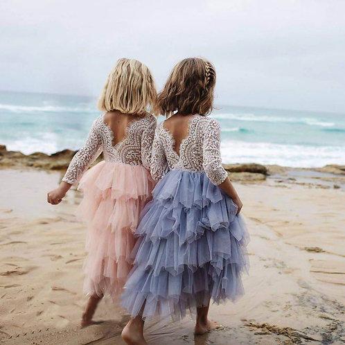 Pandora Maxi dress (grey, pink, navy blue)