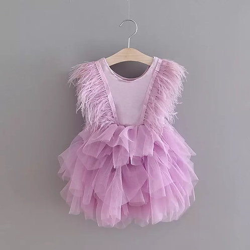 Fluffy feathers dress