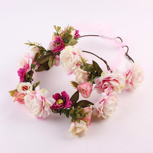 Wild Floral halos (pink, white, blue)