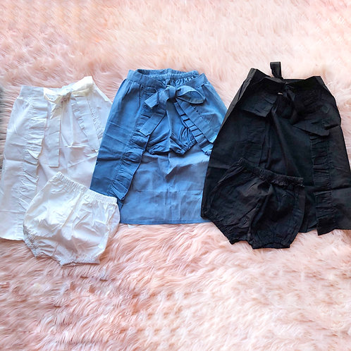 Flyaway skirt with bloomers