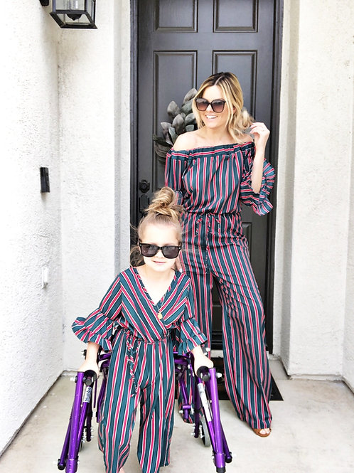 Mommy & me Karina Striped Jumpsuits