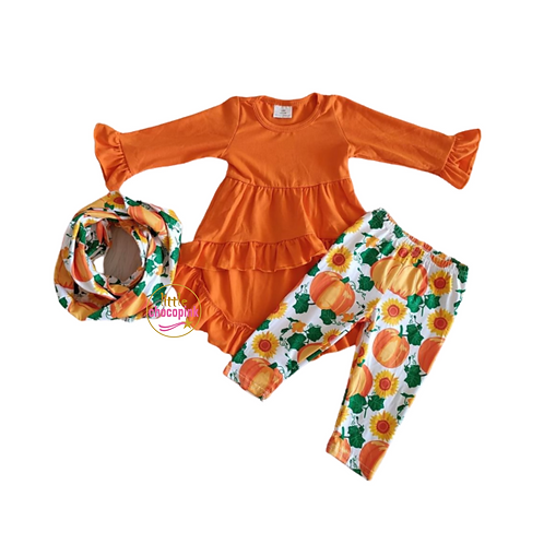 Orange Pumpkin hi lo set