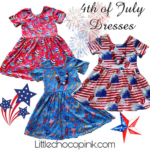 4th of July twirl dresses