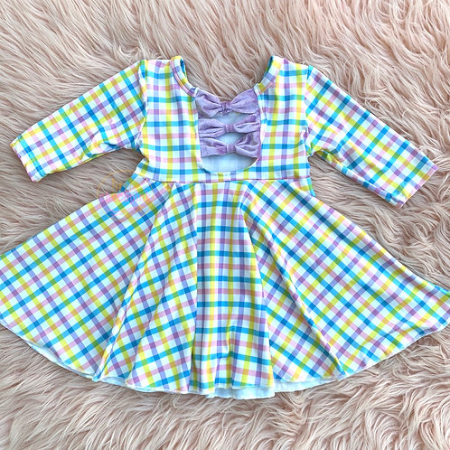 Plaid pastel twirl dress