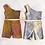 Thumbnail: Tie dye one shoulder biker set
