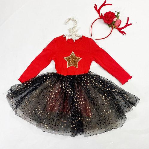 Star tutu dress (red or black)
