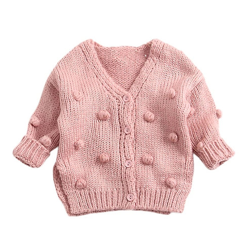 Knitted pom pom sweater (2 colors)