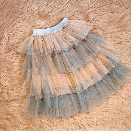 Ombre maxi tulle skirt