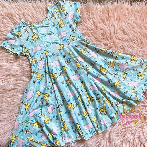 Zoo- tastic drop twirl dress