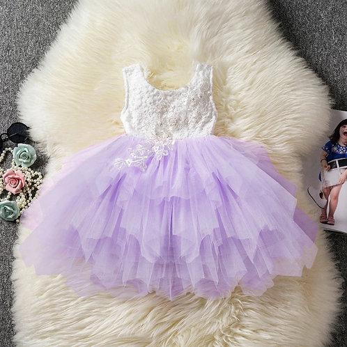 Pixie lace dress (pink, violet)