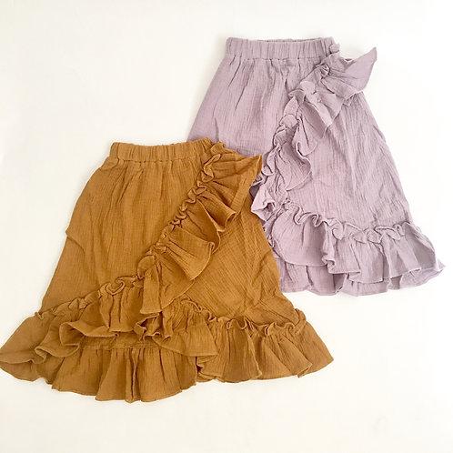Ruffle boho skirts