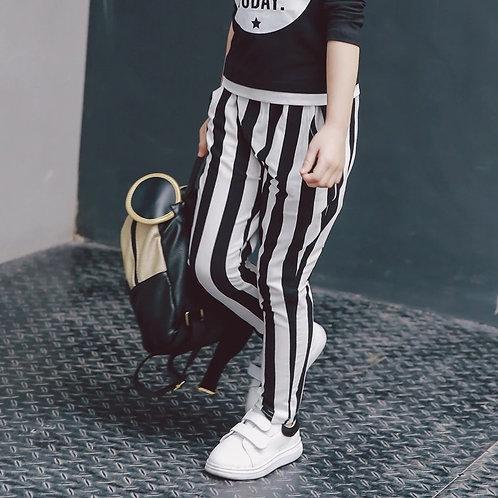 Stripes skinny pants