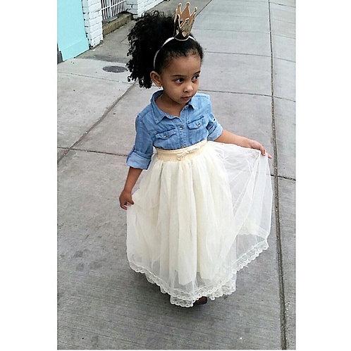 Boho maxi lace skirts