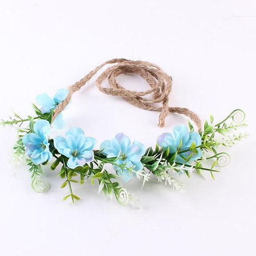 Flowers braided halo
