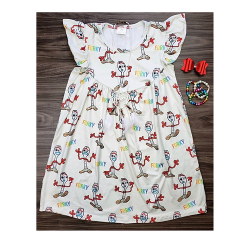 Forky pearl dress