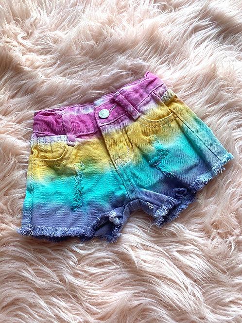 Pastel Tie dye shorts